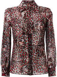 блузка с тигровым принтом Saint Laurent