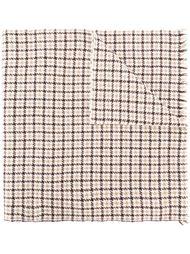 шарф с узором в ломаную клетку Eleventy