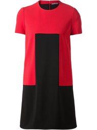 двухцветное платье  Alexander McQueen