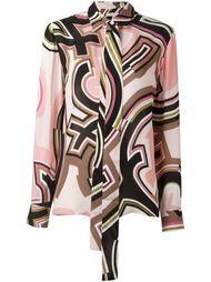 рубашка с абстрактным принтом   Emilio Pucci