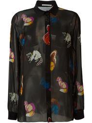 прозрачная рубашка с принтом животных Marco De Vincenzo