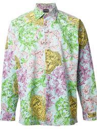 рубашка в принт  Versace Vintage
