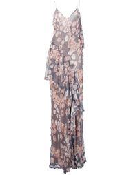 платье в клетку с цветочной вышивкой Jason Wu
