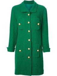однобортное пальто  Chanel Vintage