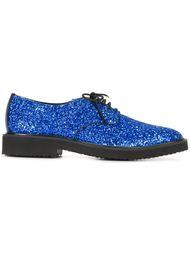 туфли на шнуровке с блестками Giuseppe Zanotti Design