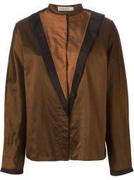 блузка с контрастными панелями спереди Versace Vintage