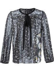 прозрачная блузка с принтом маргариток Marc Jacobs