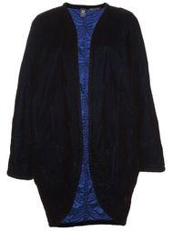 длинное бархатное пальто  Emanuel Ungaro Vintage