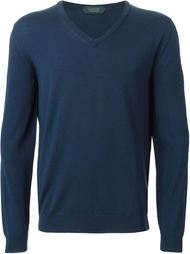 свитер с V-образным вырезом Zanone