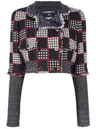 костюм с юбкой в клетку Chanel Vintage