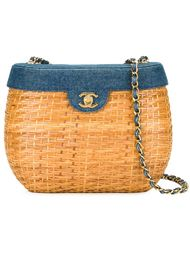 плетеная сумка на плечо Chanel Vintage