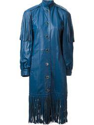 длинное пальто с бахромой  Christian Dior Vintage