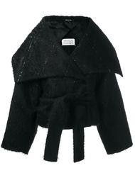 короткое пальто с объемным воротником Maison Margiela