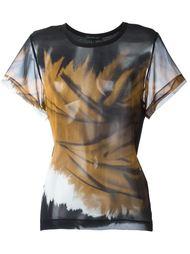 прозрачная футболка с абстрактным принтом Barbara Bui