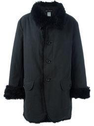 пальто с меховой отделкой Issey Miyake Vintage