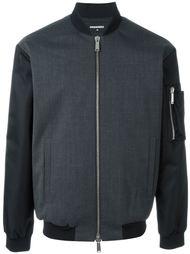 куртка-бомбер с контрастными рукавами  Dsquared2