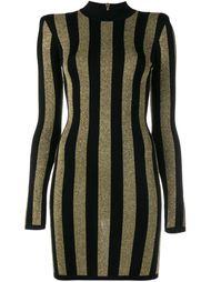 облегающее платье в полоску Balmain