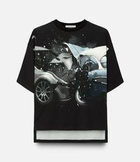 футболка с принтом авто-аварий Christopher Kane