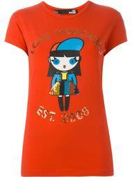 футболка с принтом куклы  Love Moschino