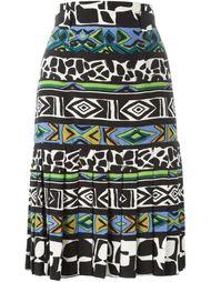 плиссированная юбка А-образного силуэта Jean Louis Scherrer Vintage