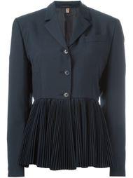 пиджак с плиссированным подолом Romeo Gigli Vintage