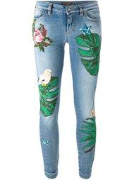 джинсы с нашивками Dolce & Gabbana