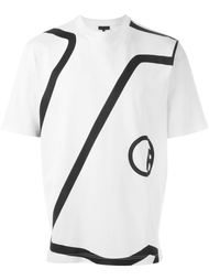 футболка с принтом линий  Lanvin