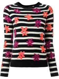 striped floral intarsia jumper Chinti And Parker