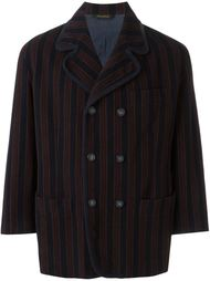 короткое пальто в полоску Romeo Gigli Vintage