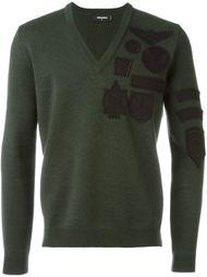 свитер с нашивками  Dsquared2