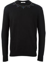 свитер с декорированным вырезом Givenchy
