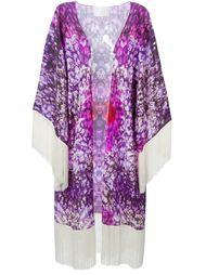 fringed floral kimono Athena Procopiou
