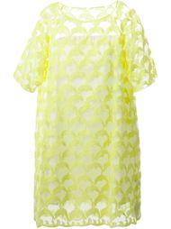 прозрачное платье с вышитыми дельфинами Tsumori Chisato