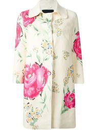 пальто с цветочным принтом Ermanno Scervino