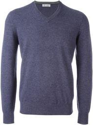свитер c V-образным вырезом   Brunello Cucinelli