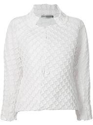 фактурная куртка с геометрическим узором  Issey Miyake