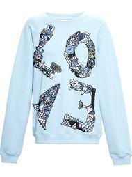 'Love' embroidered sweatshirt Mary Katrantzou