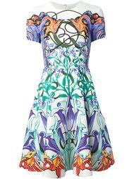 расклешённое платье с короткими рукавами Mary Katrantzou