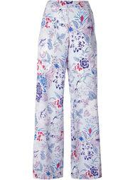 широкие брюки с цветочным узором Etro
