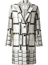 пальто с квадратным принтом Etro