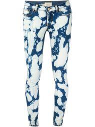 джинсы кроя скинни в стиле тай-дай Fausto Puglisi