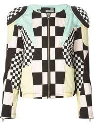 куртка с оптическим узором Love Moschino