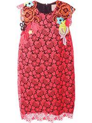 платье с цветочной вышивкой Christopher Kane