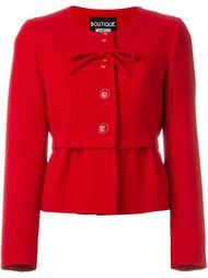приталенная куртка с бантом Boutique Moschino