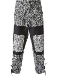 брюки с меланжевыми панелями Aganovich