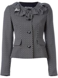frill neck fitted jacket Boutique Moschino