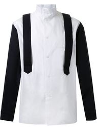 рубашка с контрастными подтяжками Yohji Yamamoto