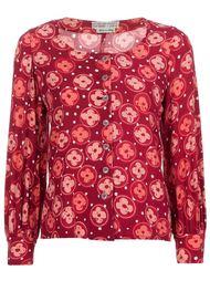 рубашка с цветочным узором Emanuel Ungaro Vintage
