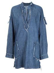 джинсовое платье с необработанными краями  Raquel Allegra