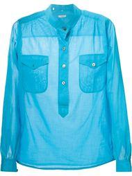 рубашка с воротником-стойкой Yves Saint Laurent Vintage